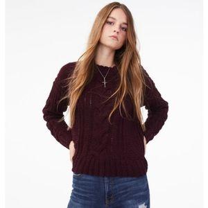 Aeropostale ✨ Chenille cable sweater